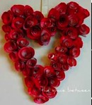 Red rosette wreath
